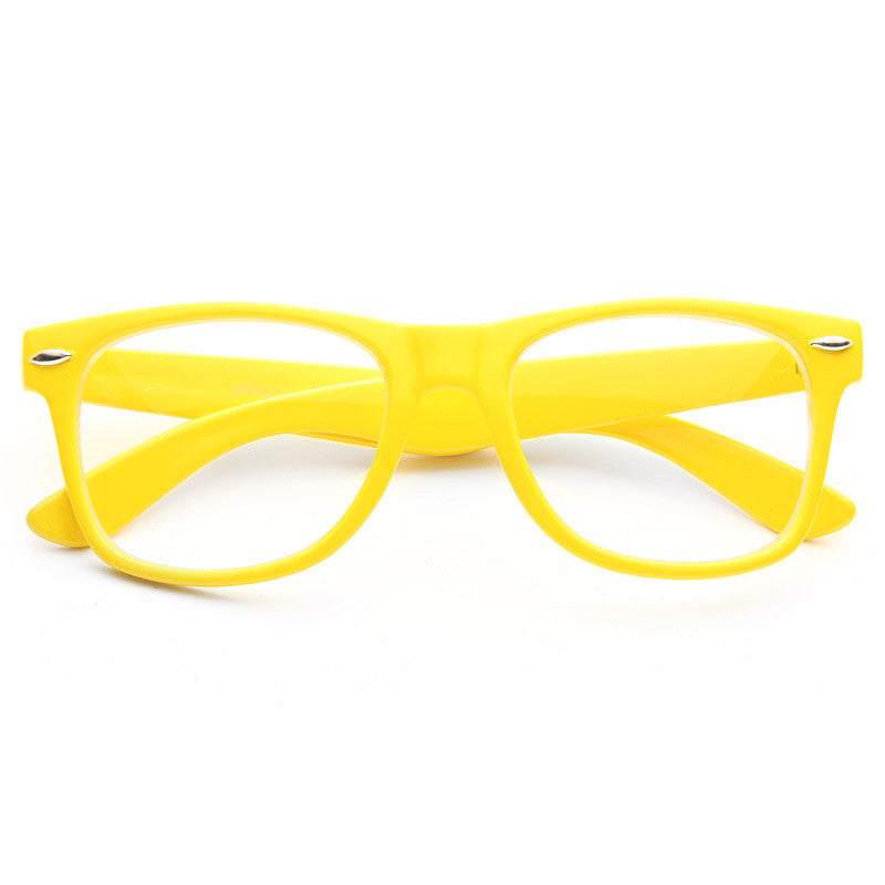 Brittney Spears Style Large Clear Horn Rimmed Glasses
