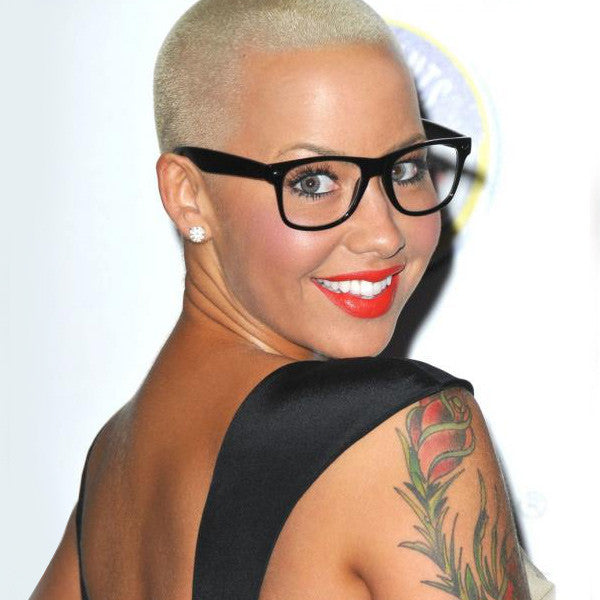 Amber Rose Style Large Clear Horn Rimmed Glasses