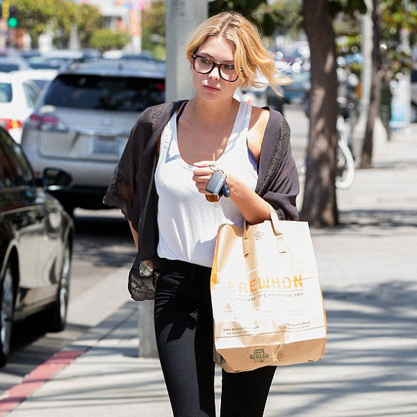Ashley Benson Style Large Horn Rimmed Celebrity Clear Glasses