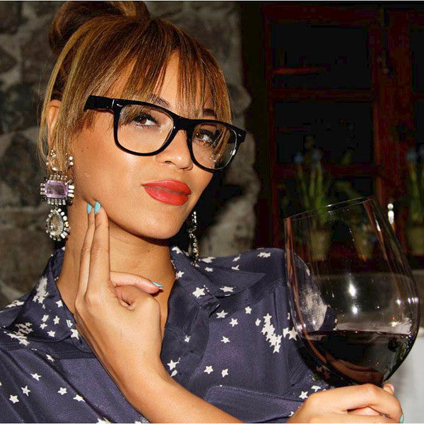 Beyonce Style Geek Chic Horn Rimmed Celebrity Clear Glasses