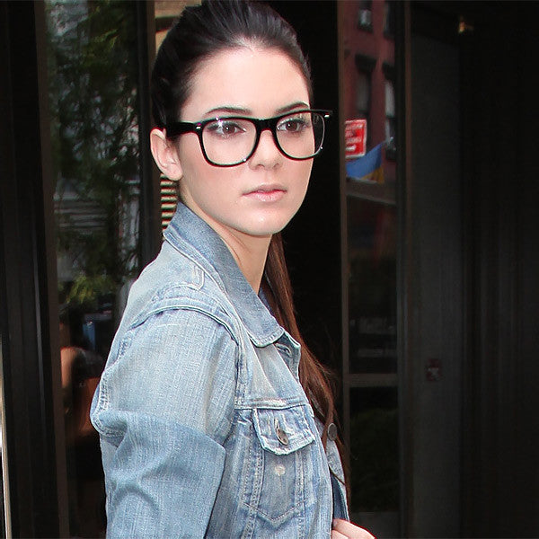 Kendall Jenner Style Geek Chic Horn Rimmed Celebrity Clear Glasses