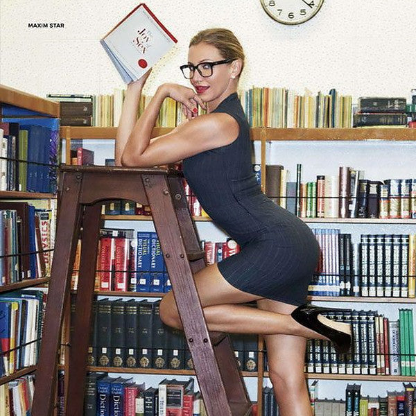 Halloween Sexy Librarian Horn Rimmed Glasses