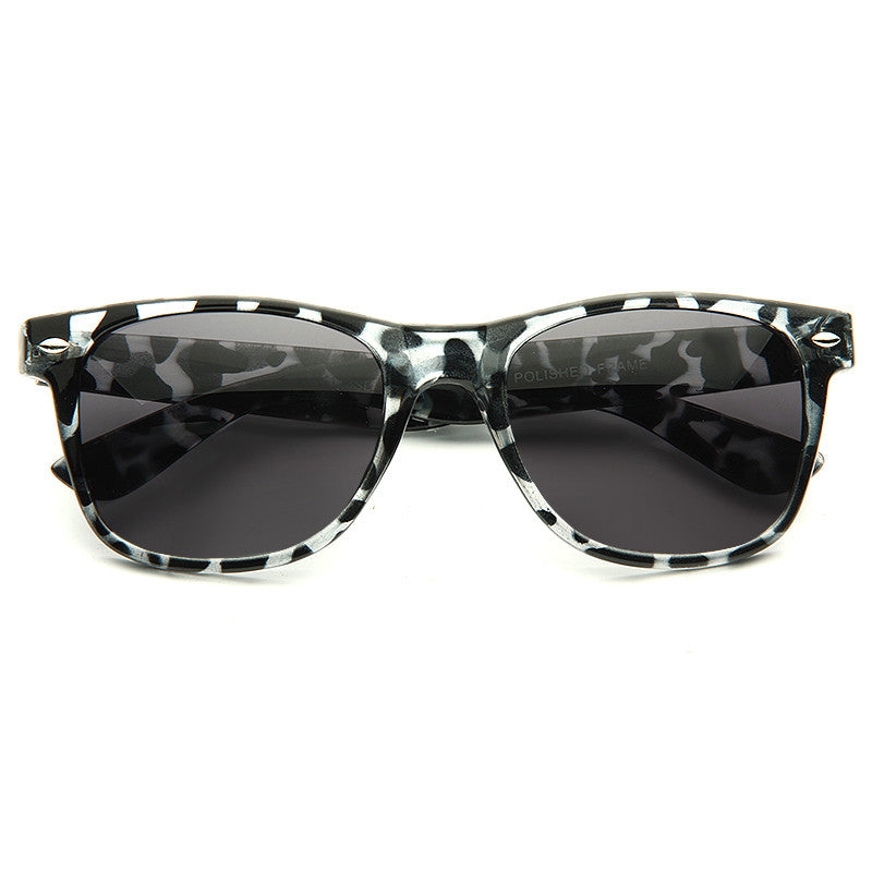 Jude Large Super Dark Horn Rimmed Sunglasses