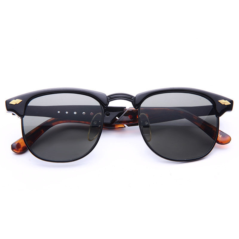 Magnus Vintage Cut-Out Half-Frame Sunglasses