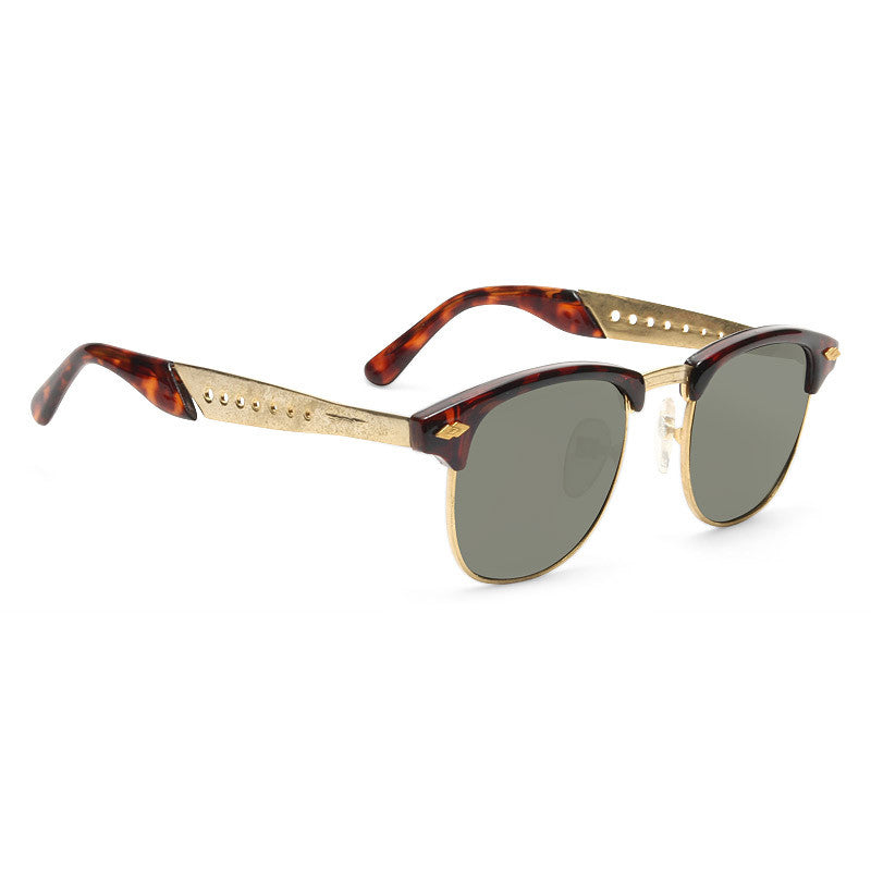 Magnus Vintage Cut Out Half-Frame Sunglasses