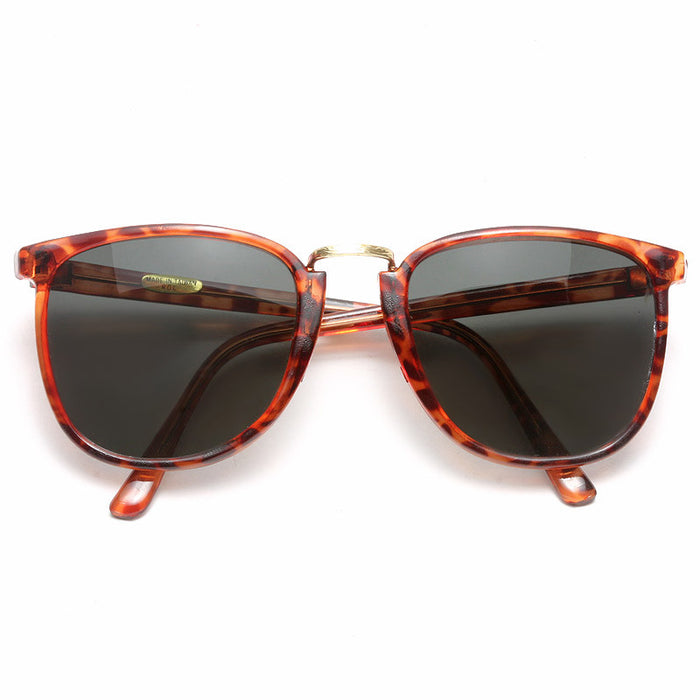 Kennedy Vintage Metal Bridge Horn Rimmed Sunglasses