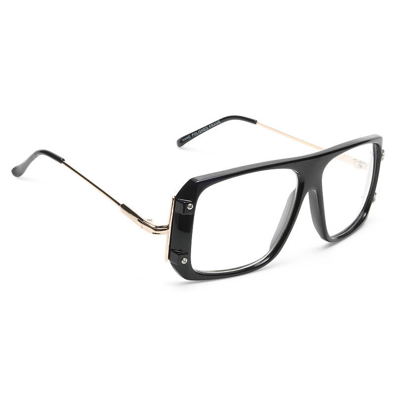 Arthur Plastic Square Aviator Clear Glasses
