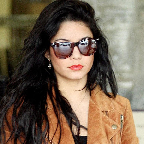 Vanessa Hudgens Style X Large Mirror Horn Rimmed Celebrity Sunglasses