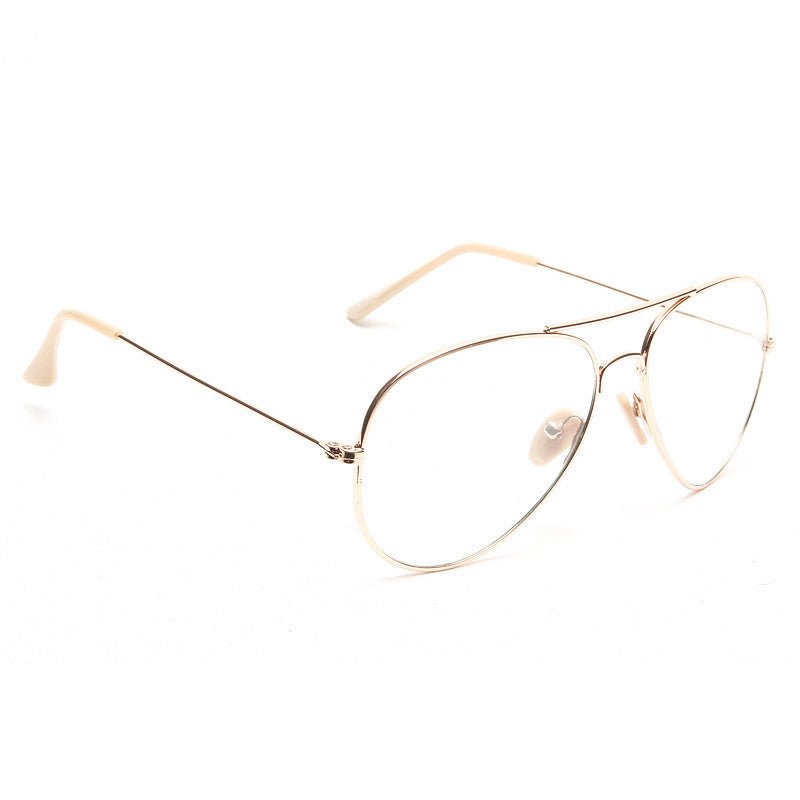 Classic 58mm Clear Aviator Glasses
