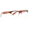 Foster Unisex Metal Clear Clubmaster Glasses