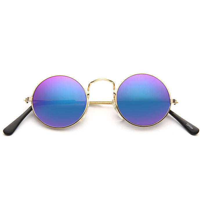 Lennon 2 Vintage Round Color Mirror Sunglasses
