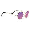 Mary Kate Olsen Style Vintage Round Color Mirror Celebrity Sunglasses