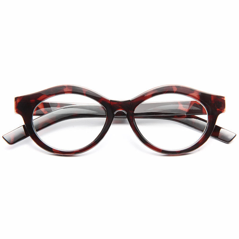 Greenwich Curvy Thick Frame Clear Glasses