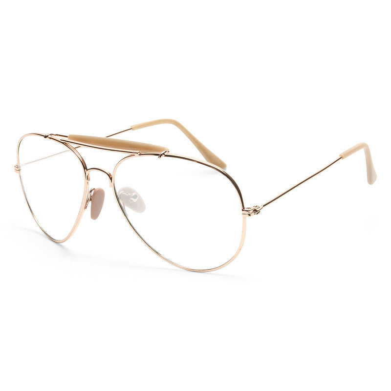 Outdoorsman Classic 58Mm Clear Aviator Glasses