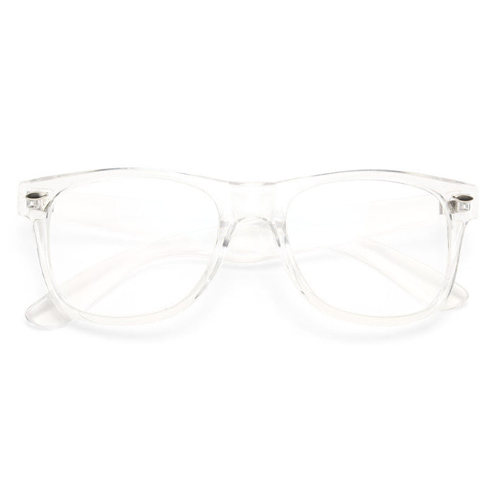 Jude Large Unisex Transparent Clear Frame Horn Rimmed Clear Glasses