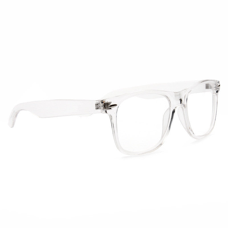 75f557714cd1a Jude Large Unisex Transparent Clear Horn Rimmed Glasses – CosmicEyewear