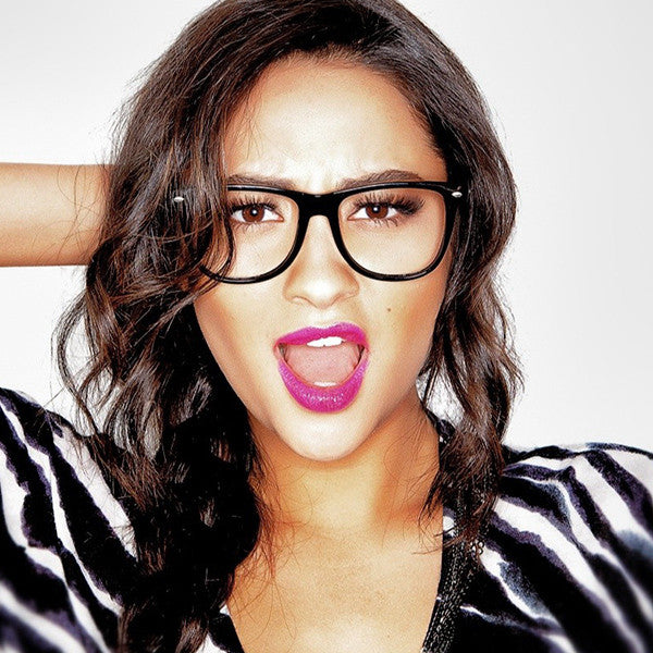 Shay Mitchell Style X Large Clear Horn Rimmed Glasses