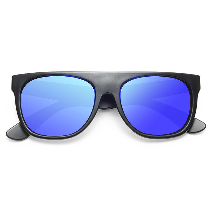 The Flat Top Designer Inspired Unisex Mirror Sunglasses