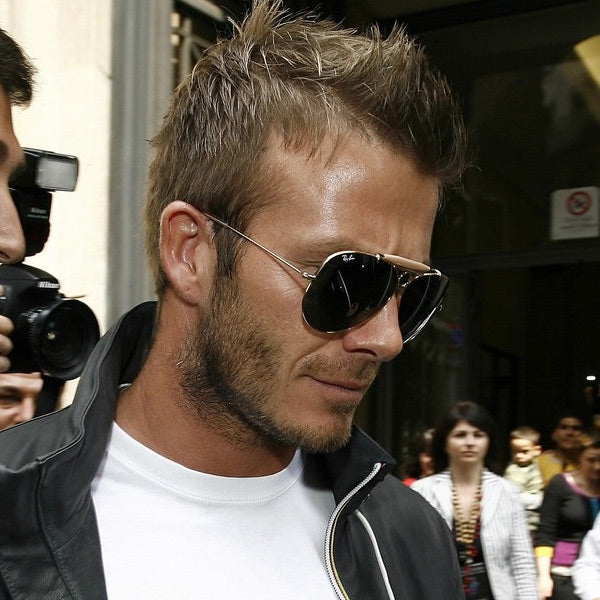 David Beckham Style Vintage 58Mm Solid Aviator Sunglasses
