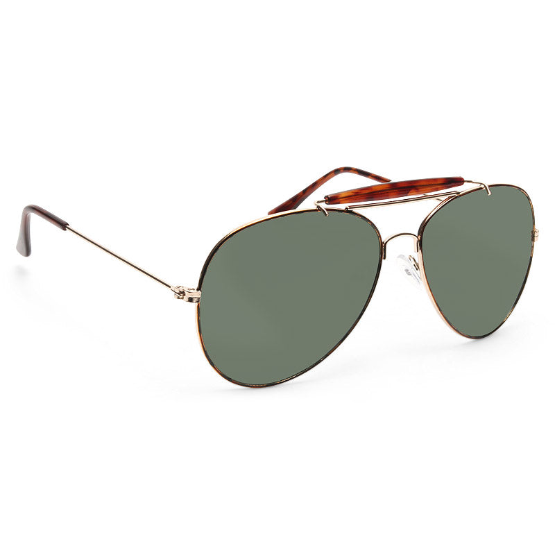 Outdoorsman Vintage 58mm Solid Aviator Sunglasses