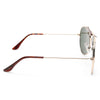 Vintage 58Mm Solid Aviator Sunglasses