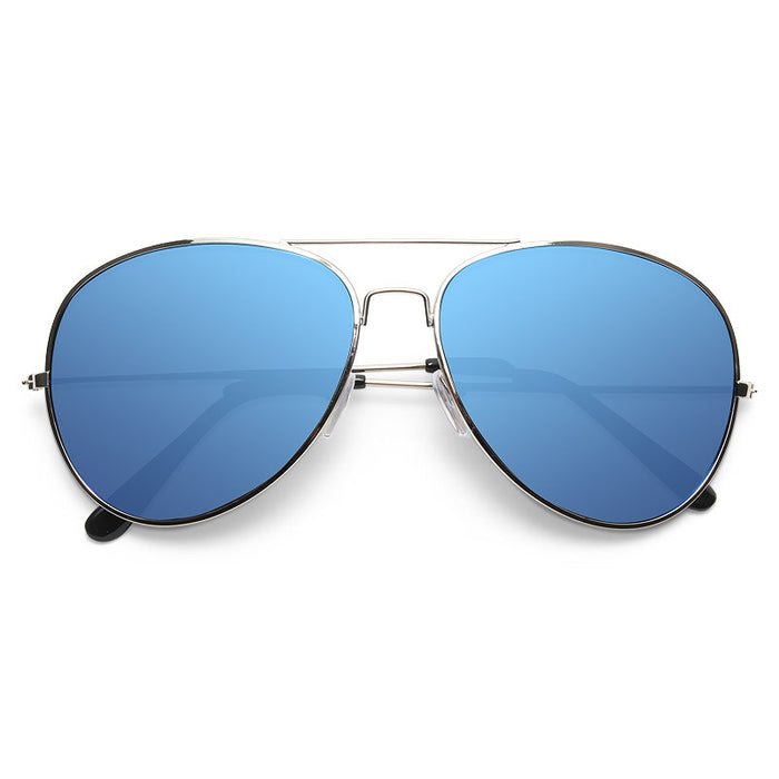 Classic 58mm Color Mirror Aviator Sunglasses