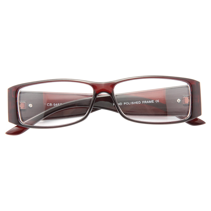 Carolina Skinny Logo Clear Glasses