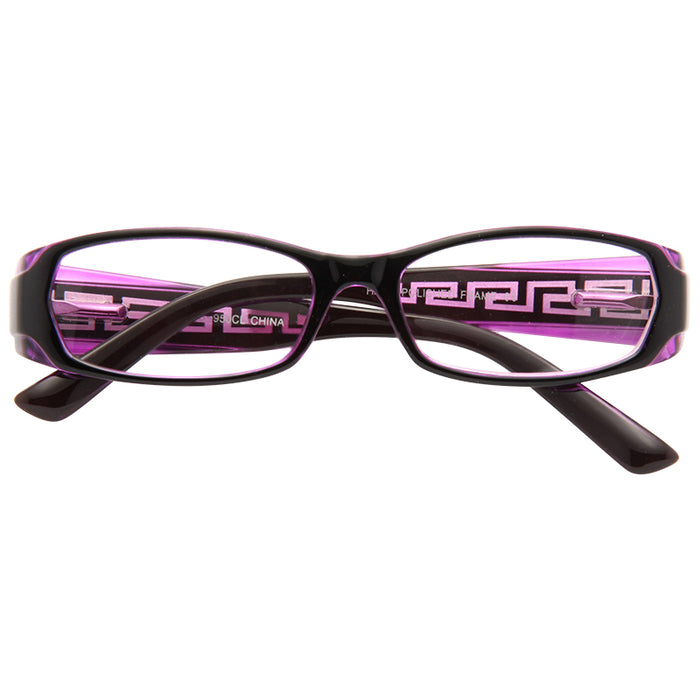 Rafaela Skinny Logo Clear Glasses