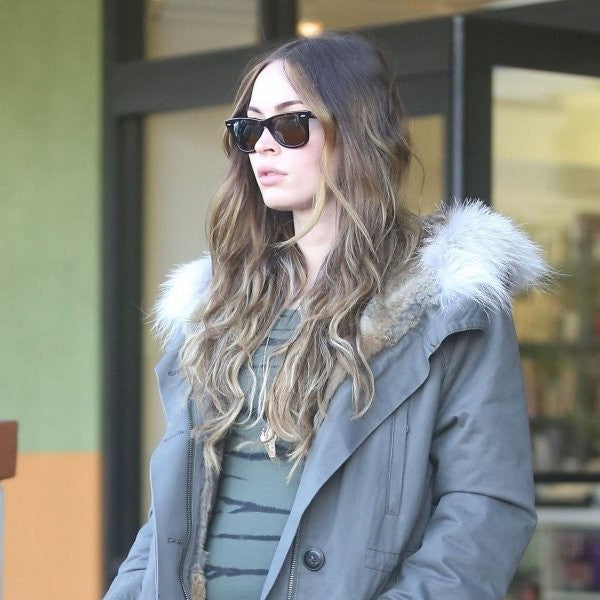 Megan Fox Style Medium Solid Horn Rimmed Celebrity Sunglasses