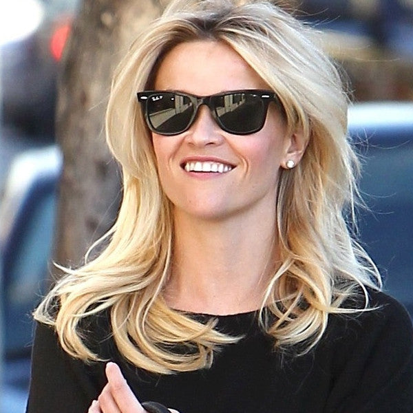 Reese Witherspoon Style Medium Solid Horn Rimmed Celebrity Sunglasses