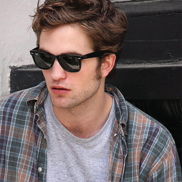 Robert Pattinson Style Horn Rimmed Celebrity Sunglasses