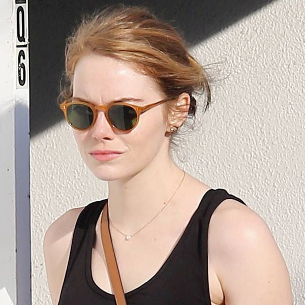 Emma Stone Style Rounded Celebrity Sunglasses