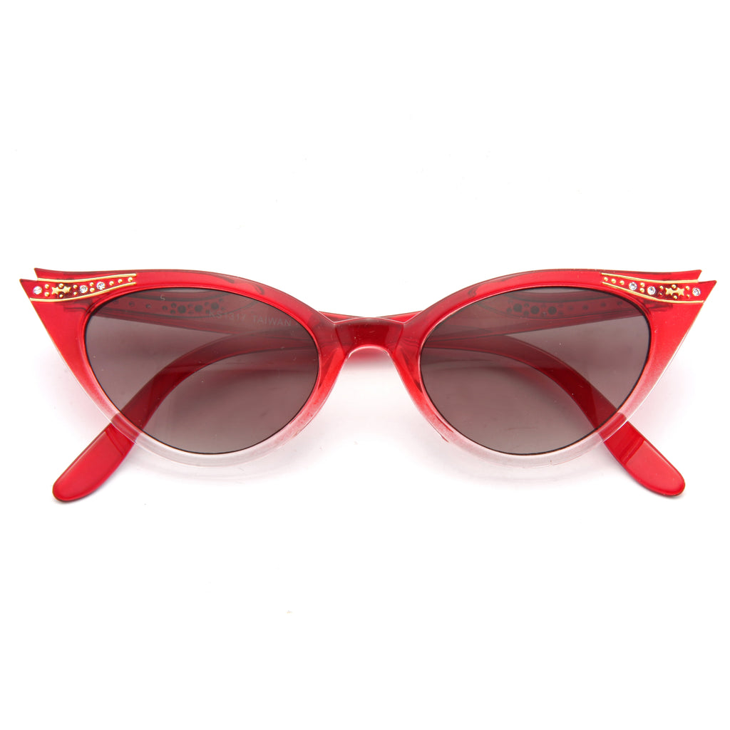 Betty Jo Rhinestone Cat Eye Sunglasses