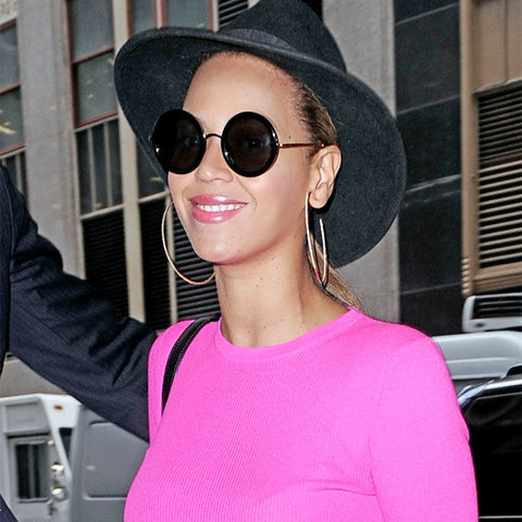 7e905a288a9 Beyonce Style Thick Round Celebrity Sunglasses