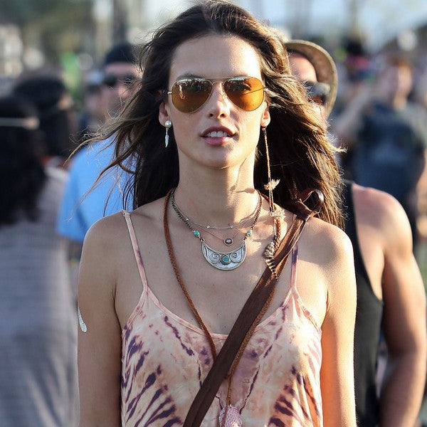 Alessandra Ambrosio Style 56mm Blue Blocker Aviator Sunglasses