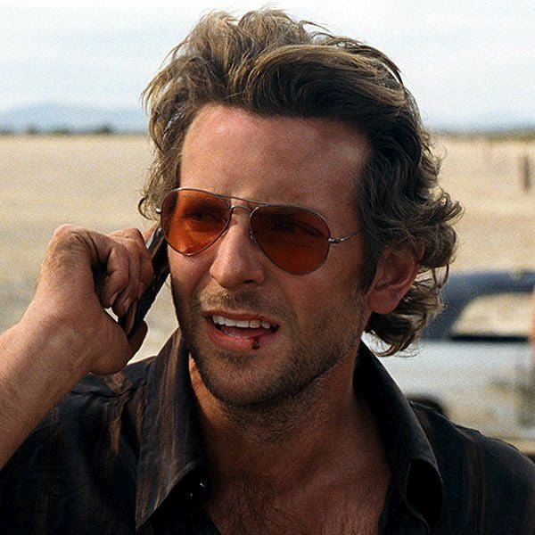 Bradley Cooper The Hangover Style 56mm Blue Blocker Aviator Sunglasses