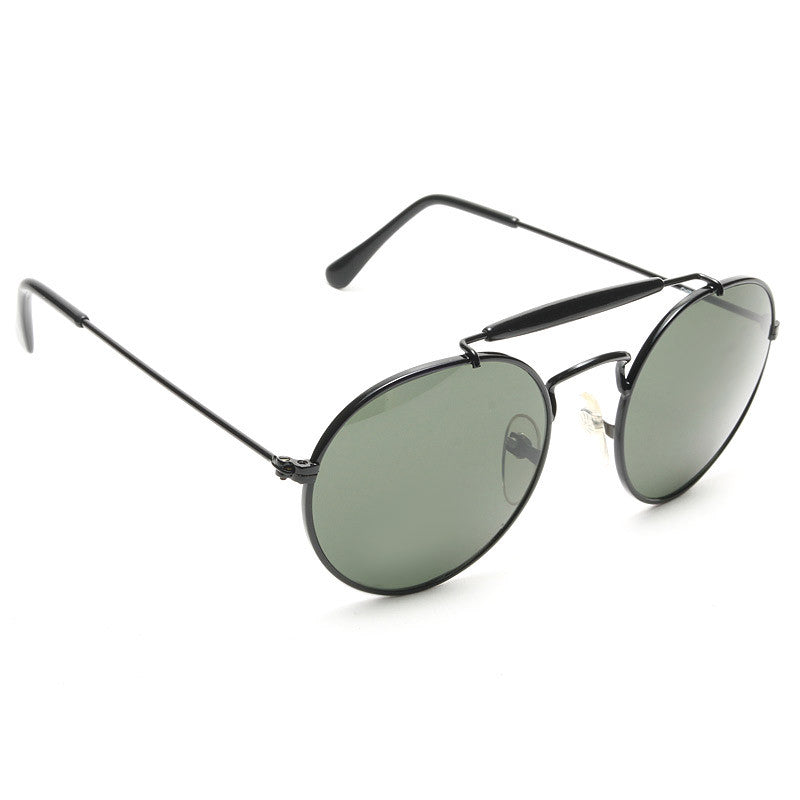 Frances Vintage Round Top Bar Sunglasses