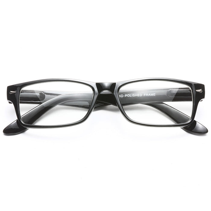 Regina Squared Skinny Clear Glasses
