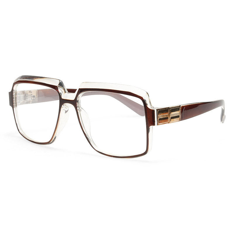 Harry 2 Oversized Unisex Squared Clear Glasses