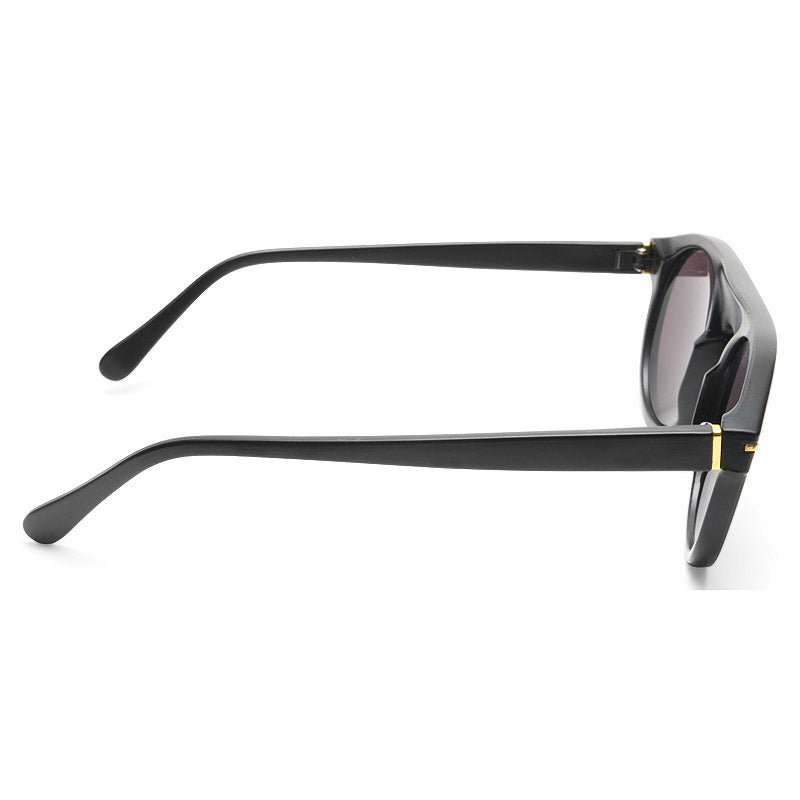 Abbott Thick Bridge Flat Top Sunglasses