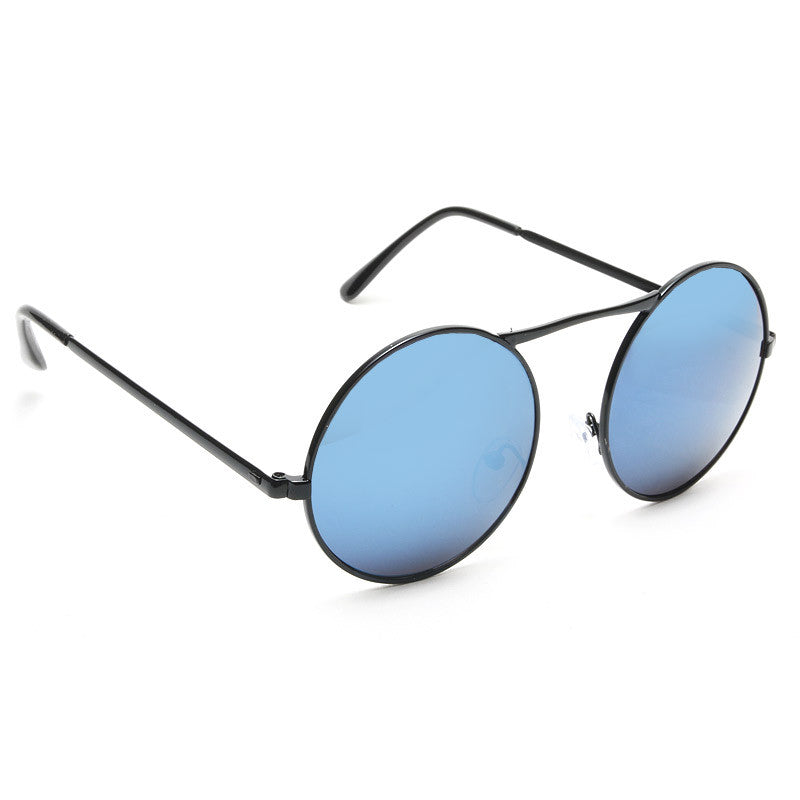 Blain Unisex High Bridge Round Metal Sunglasses