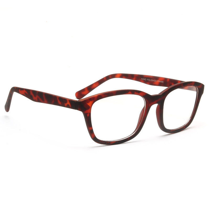 Mandy Unisex Clear Horn Rimmed Glasses