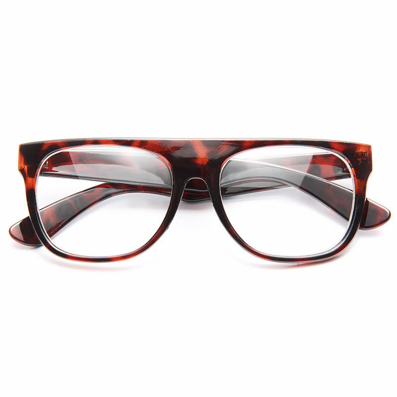 The Flat Top Unisex Clear Glasses