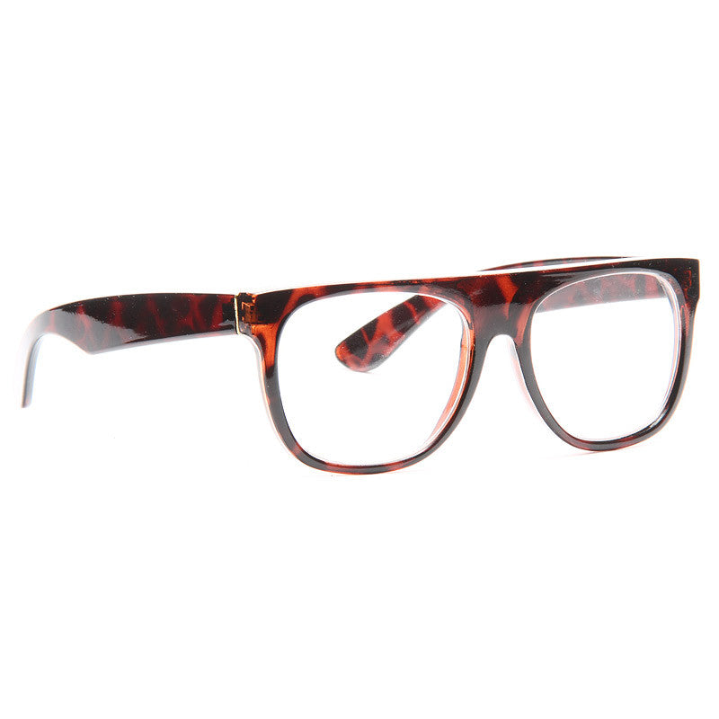 The Flat Top Designer Inspired Unisex Clear Glasses