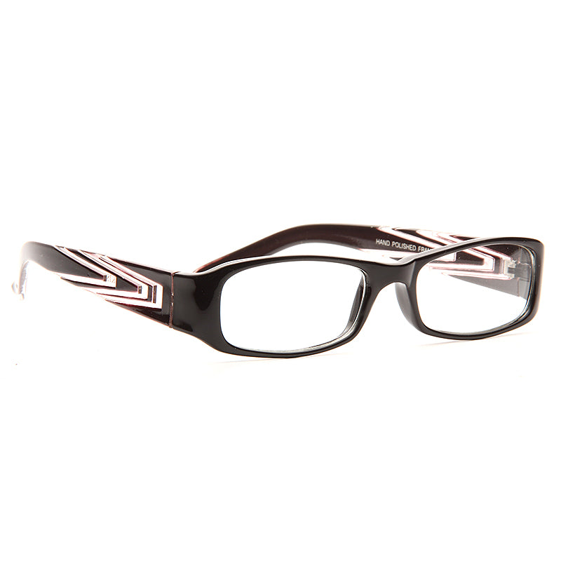 Brookhaven Geometric Accent Skinny Clear Glasses