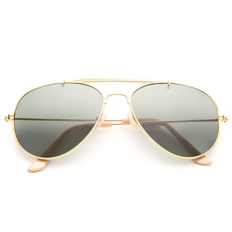 Classic 56Mm Solid Aviator Sunglasses