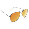 Classic 56mm Color Mirror Aviator Sunglasses