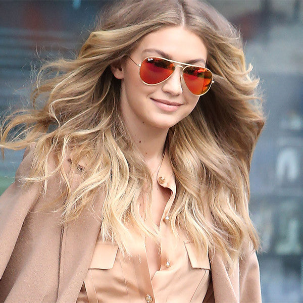 Gigi Hadid Style 56Mm Color Mirror Aviator Celebrity Sunglasses
