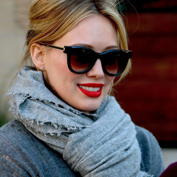 Hilary Duff Style Retro Rounded Celebrity Sunglasses