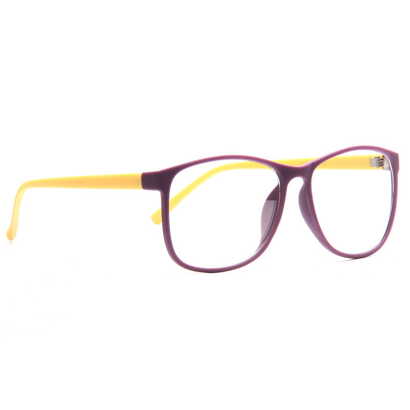 Mimic Rubber Coated Thin Frame Clear Horn Rimmed Glasses